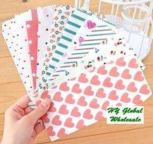 Freeshipping! New  5pcs/Set sweet flower & heart design Stationery envelopes / red gift envelopes/wholesale