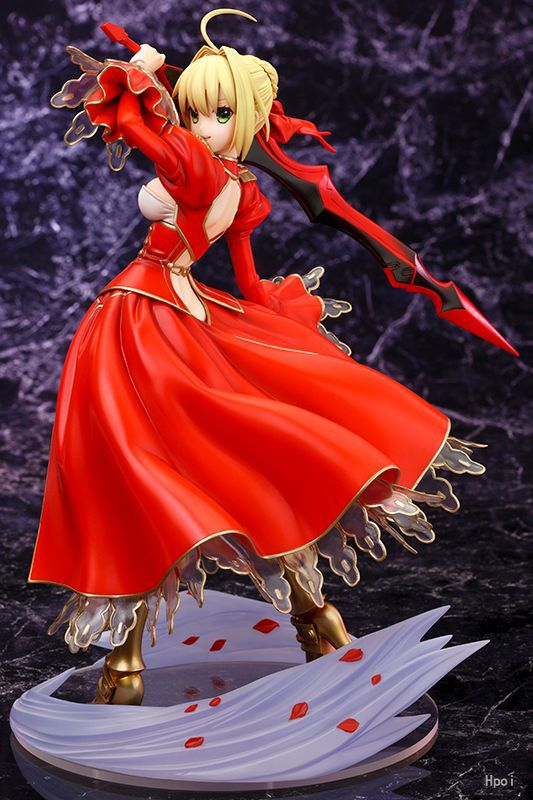 Fate/EXTRA Saber Nero 1/7 Scale Japanese Anime Fate/Stay Night Saber Extra Nero Action Figure Kotobukiya Collectibles Model ynynoo anime fate stay night fate extra saber action figures anime collectible model pvc toy 9 23cm in box z247