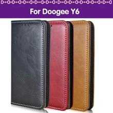 Lamocase Телефон Чехол Для Doogee Y6 5.5 Капа PU + Силиконовые Роскошный кошелек натуральная кожа флип чехол Для Doogee Y6 Y 6 Чехол