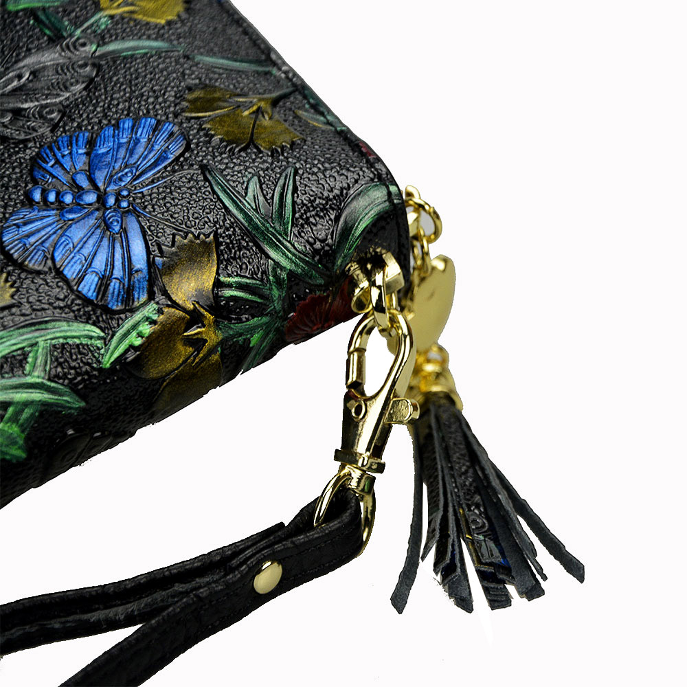 Купить с кэшбэком Animals Printing Pattern Genuine Leather Women Wallets Lady Coin Purse Long Wallet  Fashion Tassel Female Women Clutch Purse