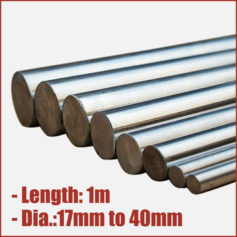 optical axis rail linear carbon steel finished round rod bearing shaft carbide hardfacing chromium plated 17mm to 40mm chrome
