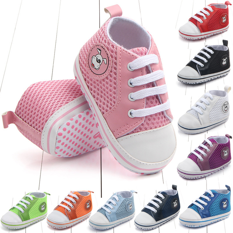 New Canvas Baby Sneaker Sport Shoes For Girls Boys Newborn Shoes Baby Walker Infant Toddler Soft Bottom Anti Slip First Walkers