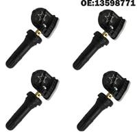 4 PCS Car TPMS Sensor Tyre Tire Pressure Sensor 13598771 for Chevy Malibu Buick for Cadillac EV6T 1A180 DB EV6T 1A180 CB