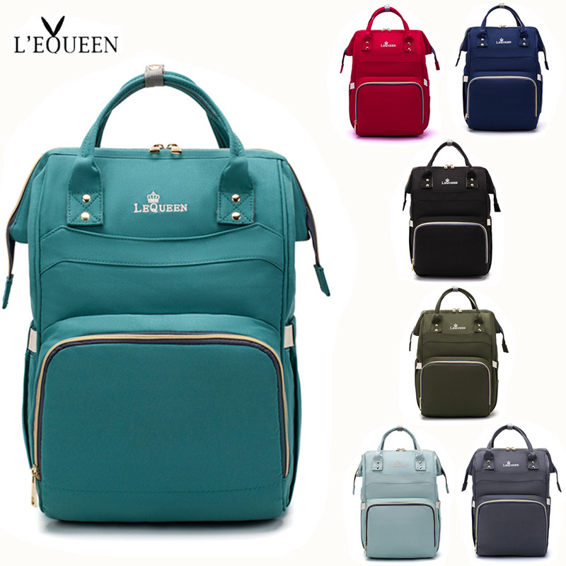 LEQUEEN Diaper Bag Mummy Nappy Backpack Large Capacity Waterproof Traveling Tool