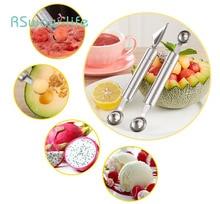 Stainless Steel Fruit Picker Watermelon Ball Digger Pitaya Ice Cream Scoop Creative Home Kitchen Supplies