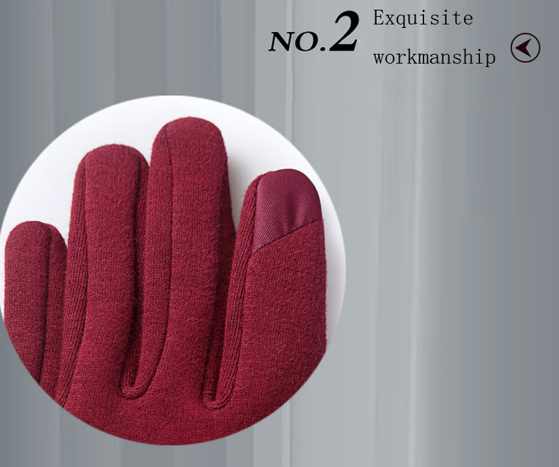 NIUPOZ Fashionable Women Touch Screen Gloves for Winter Made of Warp Knitted Velvet Material including Warm and Windproof Property 6