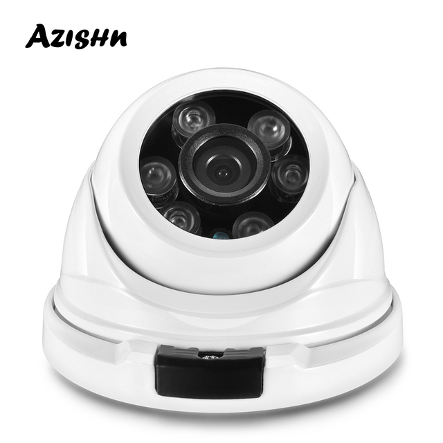 Azishn金属H.265 5MP 2592*1944 フルhdセキュリティipカメラHi3516EV300 onvif IP66 rtsp P2P防水ネットワークcctvカメラ