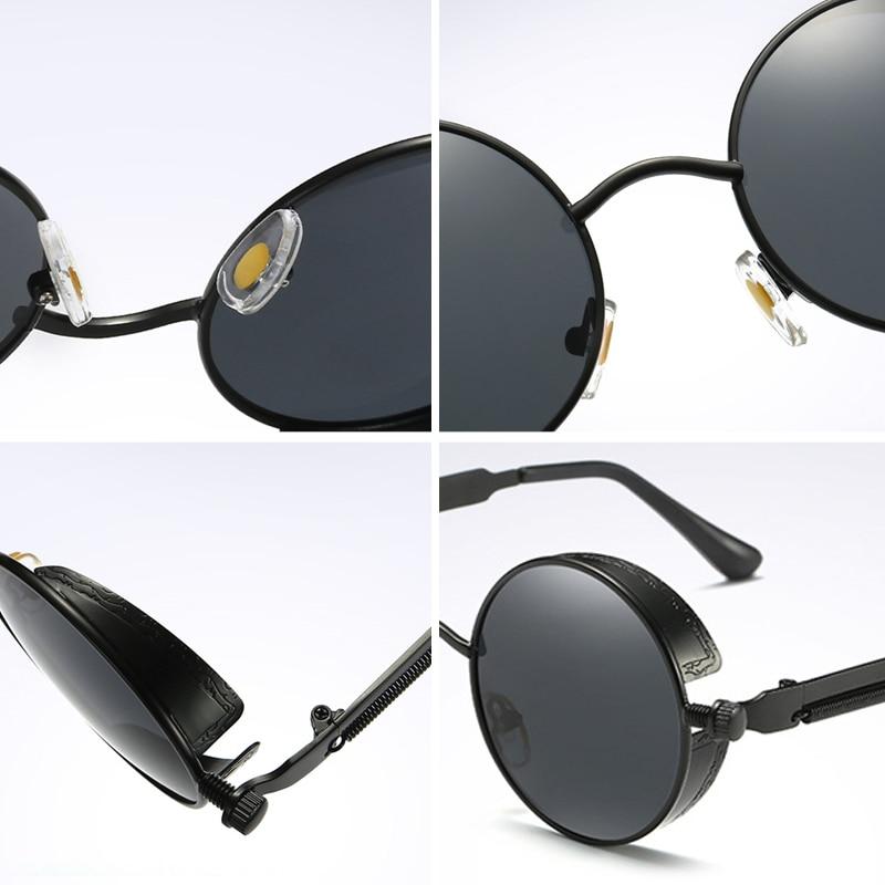 303675662b3ed COOLPANDAS Rodada óculos de Sol Óculos Homens   Mulheres Polarizada ...