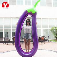 Inflatable Eggplant Pool Float Funny Water Float Pool Toys Water Floating Air Mattress Swimming Pool Toys Inflatable Toys Pool