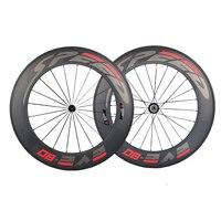Speedeve 88mm Full Carbon Road Bike Wheel 100 Carbon Fiber Bicycle Wheelset Front Rear Wheel 23mm