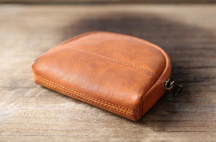 Bolsas de Couro das Mulheres Mini Homens Zipper Coin Purse