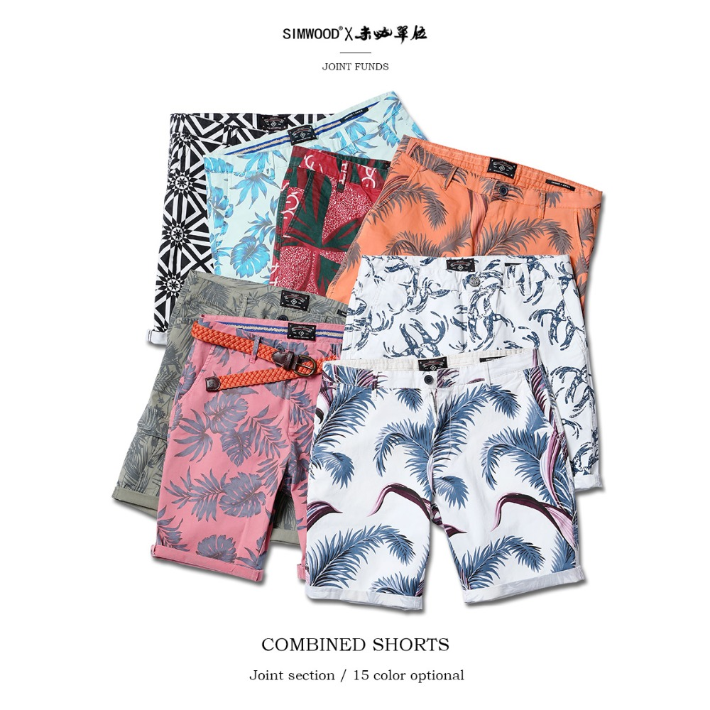 SIMWOOD 2019 Summer New Floral Hawaii   Shorts   Men Slim Fit Fashion Print Plus Size Casual Mens Clothing High Quality 180317