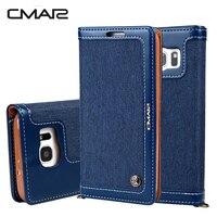 HOTR Denim Pattern Flip Leather Wallet Case For Samsung Galaxy S8 S8 Plus Case For Samsung
