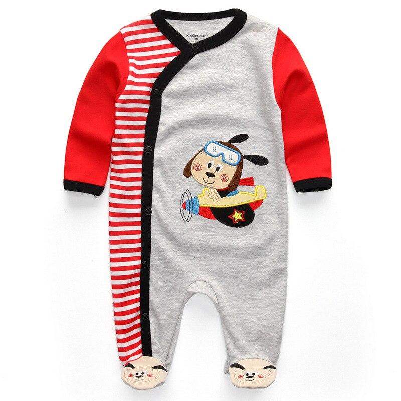 Для маленьких девочек сна; одежда для сна с мультяшным рисунком для малышей Детские пижамы хлопок Длинные рукава Детские пижамы с надписью «i love daddy» детские комбинезоны с рисунками - Цвет: baby boy