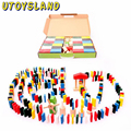UTOYSLAND 480pcs Animal Solitaire Puzzle Domino Children Standard Domino Wooden Toys Early Childhood Montessori Educational Game