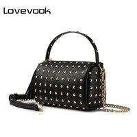 Realer Brand New Design Fashion Women Bag High Quality Messenger Bag Female PU Leather Rivet Shoulder