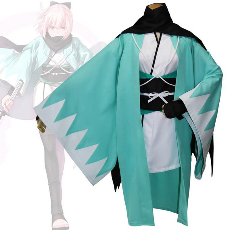 FGO Fate Stay Night Fate Grand Order Cosplay Sakura Saber Okita Souji Kimono & Inner Clothing Uniforms Halloween Party Wea