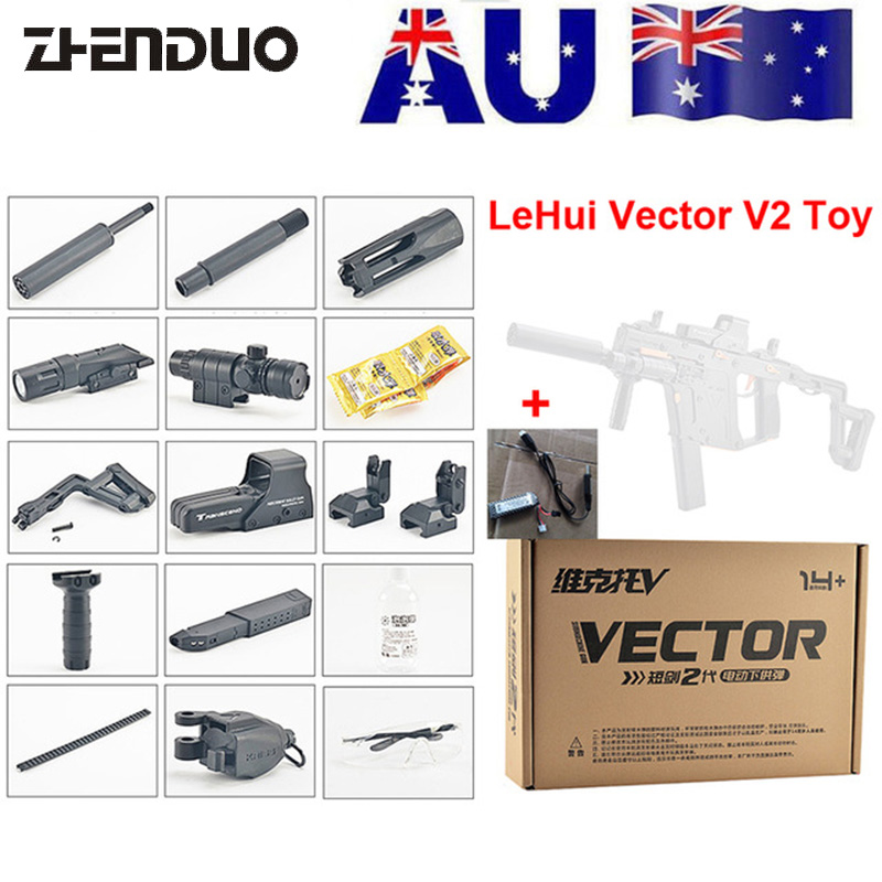 ZhenDuo Toys Mag-Fed LeHui Vector V2 Electric Gel Ball Blaster Toy Gun For Outdoor Children Child Gifts
