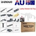 ZhenDuo juguetes Mag-Fed LeHui Vector V2 eléctrico Gel pelota Blaster pistola de juguete para niños al aire libre niños regalos