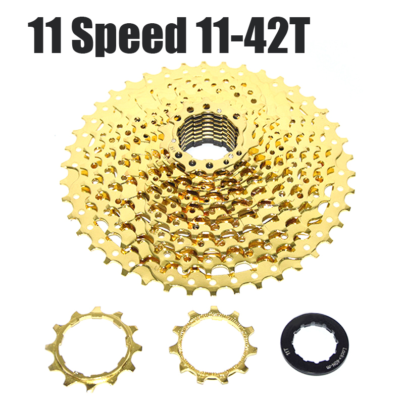 MTB Cassettes 11-Speed 11-42T Gold Cassette BMX Cycling Bicycle FreeWheel Aluminum and Steel Flywheel for SHIMANO SRAM 10 speed cassette 11 42t gold mtb cassette 10 speed fit for mountain bike road bicycle mtb bmx sram shimano