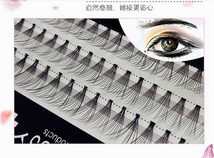 24dc59b1faf 1box Volume 10D Eyelash Extensions 0.07mm Thickness Hair Mink Strip Eyelashes  Individual Lashes Fans Lash