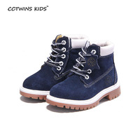 CCTWINS KIDS Autumn Winter Fashion Martin Boots For Children Genuine Leather Shoes Baby Girls Red Boots