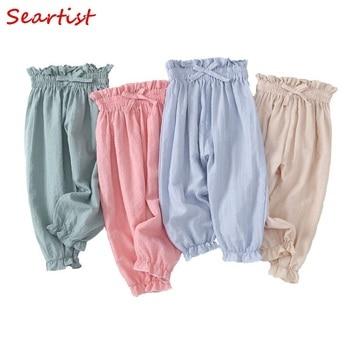 Seartist Girls Pants Solid Summer Harem Pants Baby Girl Long Cotton Thin Leggings Baby Girl Clothes Bebes Girls Clothes 2020 C40 игрушка с конфетами pez вкус ассорти 70 г