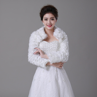 Women Winter frizzled faux fur Long Sleeve wedding jacket bolero wraps Bridal Coat Wedding Bolero Faux Fur Bridal Shurg
