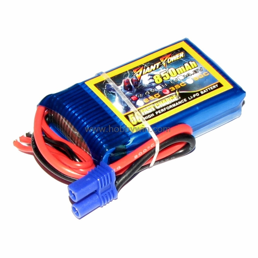 7.4V <font><b>2S</b></font> <font><b>850mAh</b></font> 35C <font><b>LiPO</b></font> Battery EC2 plug for Walkera Rodeo 150 FPV Drone image