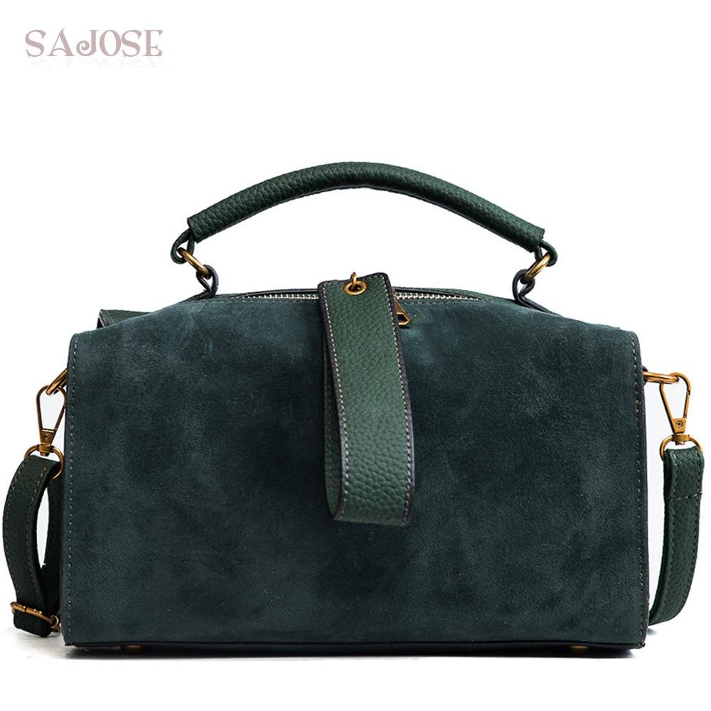 Women Fashion Leather Handbags High Quality Green Lady With Lattice Women s Shoulder Bag Brand Designer