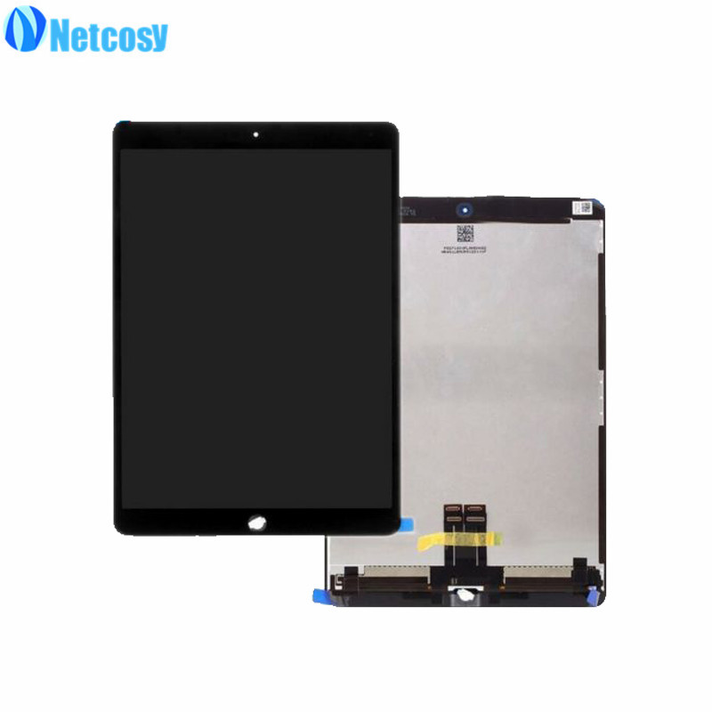 Netcosy Full Screen For ipad Pro 10.5 Black / White High quality LCD display+Touch screen assembly repair For ipad Pro 10.5 new black full lcd display