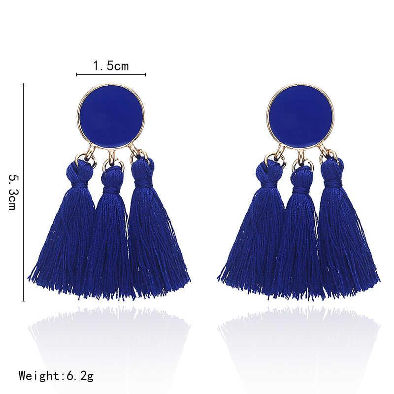 F6 Bohemian Tassel Earrings For Women 2018 Multi Color Statement Earrings Fashion Jewelry Female Drop Earring Christmas Gifts