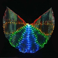 New Design Nice Belly Dance LED Isis Wings Sexy Dancing LED Light Wings Luminous Bellydance Props