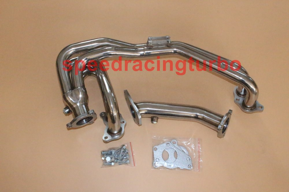 Stainless Manifold Header Up Pipe//Exhaust For 02-07 Subaru Impreza WRX Legacy