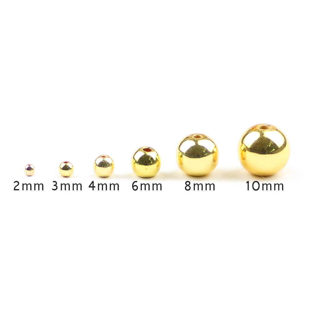Btfbes Alam Batu Manik-manik Mawar Emas Bijih Besi Manik-manik 2 3 4 6 8 10 Mm Bulat Manik-manik Longgar untuk DIY perhiasan Gelang Kalung Membuat