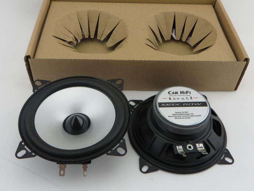 1 paire pouces argent simple core automobile automobile haut-parleurs de voiture, voiture HIFI gamme complète haut-parleur haut-parleurs de voiture