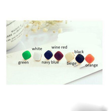 8 Colors Choose Candy Color  Enamel Clip on Earrings Non Piercing for Women Party Fine Jewelry No Hole Ear Clip Hot Sale