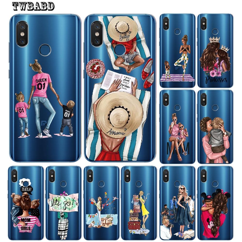 Case For Xiaomi Redmi 4X 4A 5A 5 Plus Note 7 4X 5A 5 6 Pro 6 6A 6Pro Xiaomi 5X 6X 8 A2 Lite Sxey Mom Girls Baby Phone Shell Capa