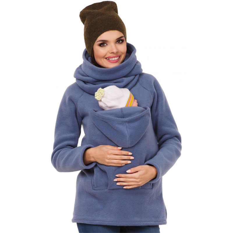 77d0984b02e Warm Maternity Sweater Coat Baby Carrying Jacket For Pregnant Women Clothes  Long Sleeve Pregnancy Top Autumn