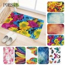 Colorful Flowers Butterflies Carpet Area Rug For Bedroom Living Room Carpet  Kitchen Baths Mat Door Mat