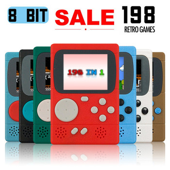 Retro Portable Mini Handheld Game Player Console 8-Bit 2.4 Inch Color LCD Kids Color Game Player Built-in 198 Video games