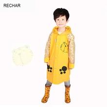 2017 Time-limited New Arrival Single-person Rainwear Boys Tour Capa De Chuva Rain Coat Cute Cartoon Tiger Children Raincoat