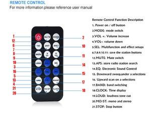 Image 3 - 1 unidad de autorradio estéreo Bluetooth para coche 1 din 60Wx4 admite llamadas manos libres, receptor de Radio para coche, reproductor MP3/USB/tarjeta SD/AUX/Radio FM