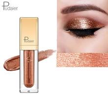 Pudaier 18 Colors Glitter Eyeshadow Shadows Eyeshadow Pallete Waterproof Liquid Shimmer Eye Shadow Makeup Palletes of Shadows silver shadows