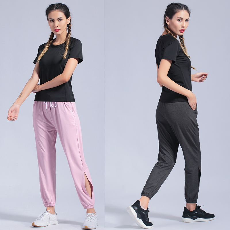 Women's Sportswear Yoga Set Fitness Gym Clothes 2 Pcs Loose Running Tennis Shirt+Pants Yoga Leggings Jogging Workout Sport Suit(China)