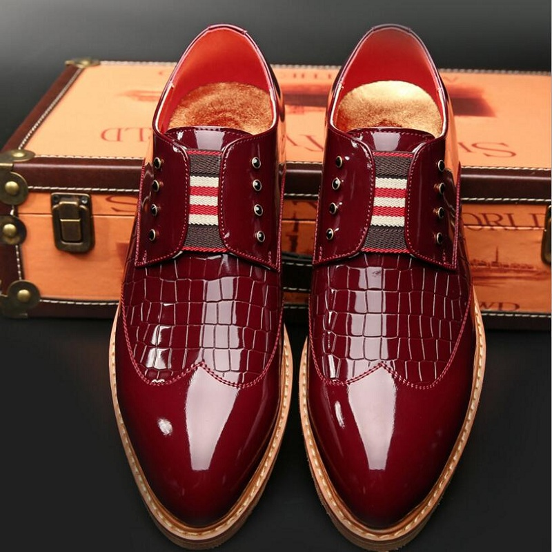 Men's Formal Oxford Dress Shoes England Pointed Toe Design Leather Party Wedding Shoes For Men Brogue Shoes Zapatos Hombre new brush oxford shoes for men slip on pointed toe fringe oxfords men shoes leather causal formal men dress shoes zapatos hombre