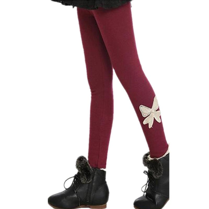 Girls Leggings Autumn Winter Pants for Kids Warm Fleece Leggings for Girl 10 Colors Baby Girls Pant Children Clothing 2 12 years in Pants from Mother Kids