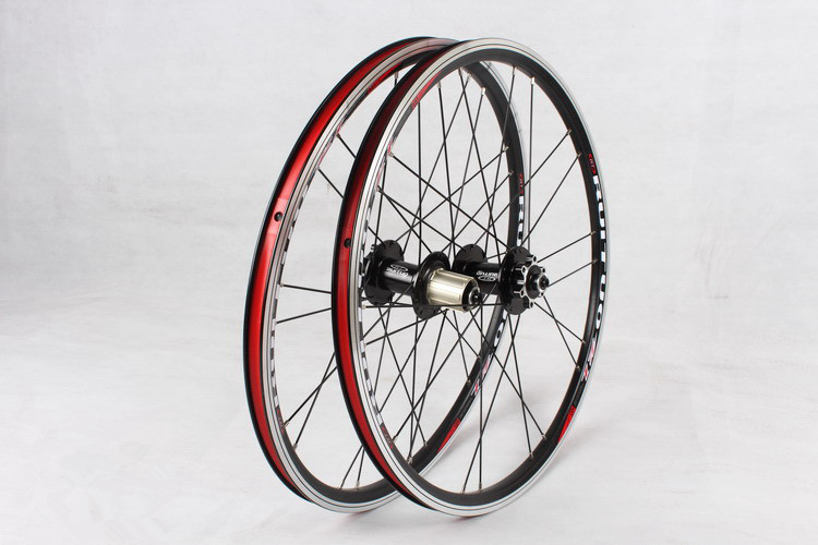 20inch RT *1-3/8 V /disc Brake Front 2 Rear 5 Bearing Ultra Smooth light 451/406 wheel wheels For BXM folding bike Rim Rims цена