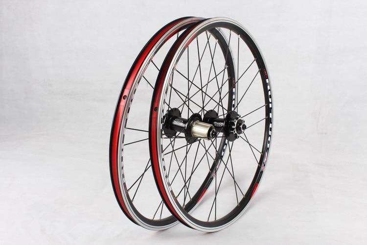 20inch RT *1 3/8 V /disc Brake Front 2 Rear 5 Bearing Ultra Smooth light 451/406 wheel wheels For BXM folding bike Rim Rims