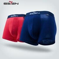 Seven7 Merk Zachte Ademende Mens Boxer Ondergoed Katoen Boxershorts Voor Mannen Slip Homme Hot Sexy Solid Mannelijke Slipje 109G40140